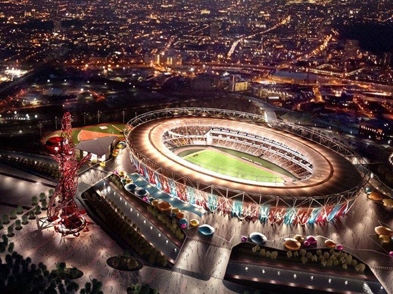 Computer-generated image of West Ham's new stadium